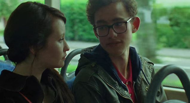 """Emily Browning (l) and Olly Alexander (r) in a scene from Stuart Murdoch's """"God Help the Girl""""."""