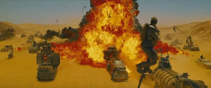 One of the calmer sequences in George Miller's Mad Max: Fury Road.